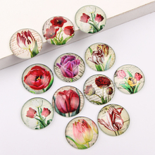 Buy reidgaller Mixed Round Dome Tulip flower Photo Glass Cabochon 12mm 10mm 14mm 18mm 20mm 25mm diy jewelry cameo findings for $3.96 in AliExpress store