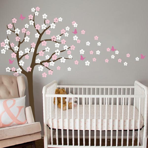 Achetez en gros stickers muraux arbre de p pini re de b b - Stickers chambre bebe arbre ...