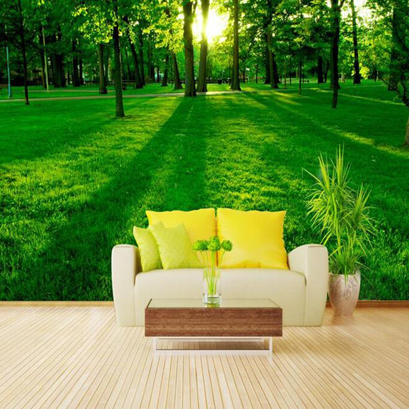 Buy great wall 3d green nature sun forest - Papel de pared moderno ...