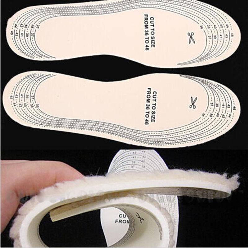 Unisex Men Wemen Winter Warm Soft Wool Winter Shoe Insole Pad Size 26-46 Free shipping(China (Mainland))