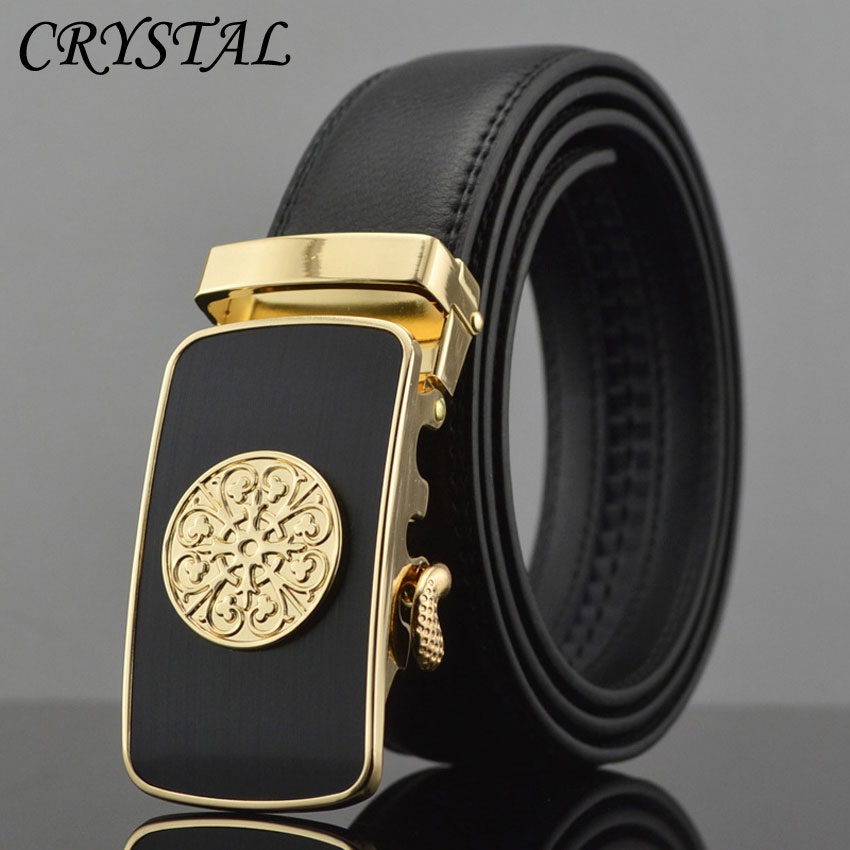 Belt Cinto Cinturones Hombre Luxury Strap Ceinture Homme Luxe Marque Fashion Geometric Metal Buckle Automatic Leather Men - Pateroy Flag-Ship Store store