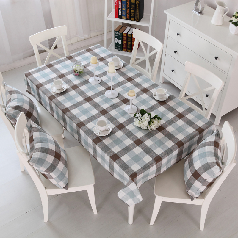 Paris Spring Modern Restaurant Tablecloths Plaid Linen Table Cloths Bohemian Southeastern Wallpapers High Quality(China (Mainland))