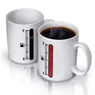 Magic color changing mugs Magic magic thermometer color glass ceramic cup coffee cup(China (Mainland))