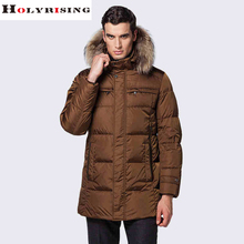 2015 Big Fur Brand New Mens Goose Down Parka Thick Duck Down Coat Winter Warm Jacket -40 degree mens suits(China (Mainland))