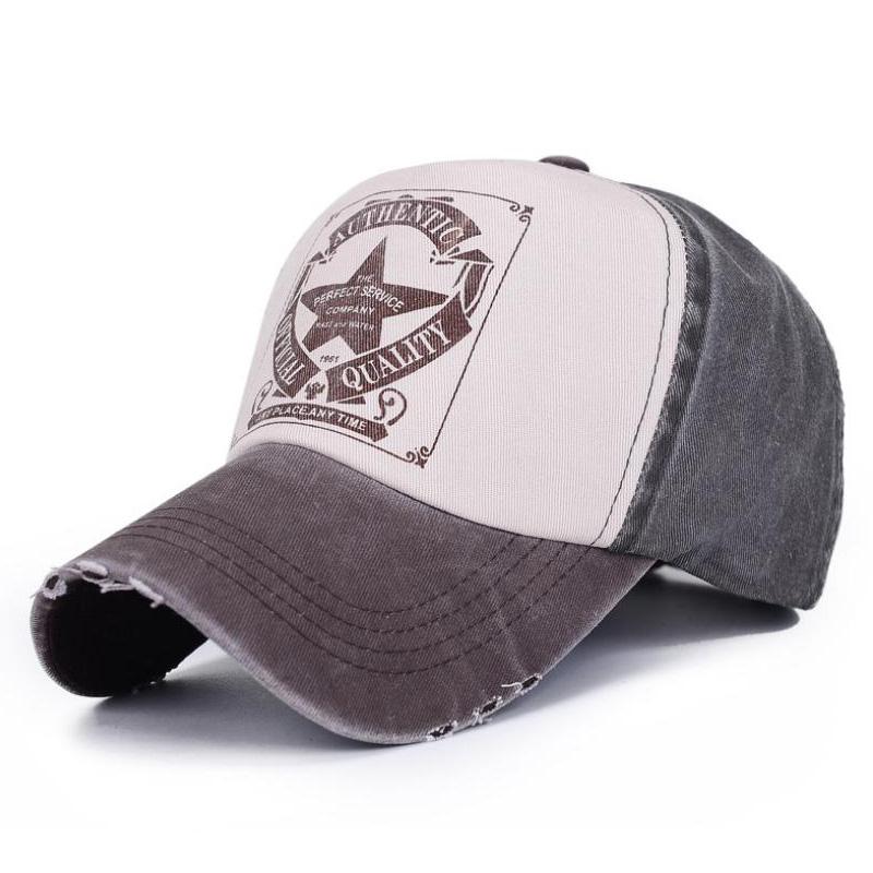 6 Colors ! Star Patchwork Baseball Cap Men or Women Outdoor Sport Polo Hats Z-1462()
