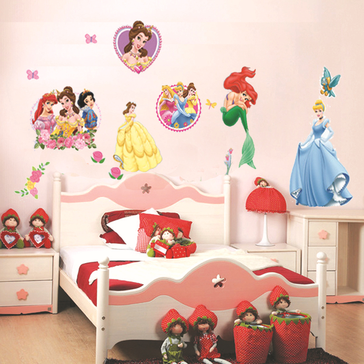 princess home decor art wall stickers for kids rooms child love diy