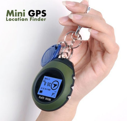 Handheld Keychain PG03R Mini GPS Navigation USB charge For Outdoor Sport travel(China (Mainland))