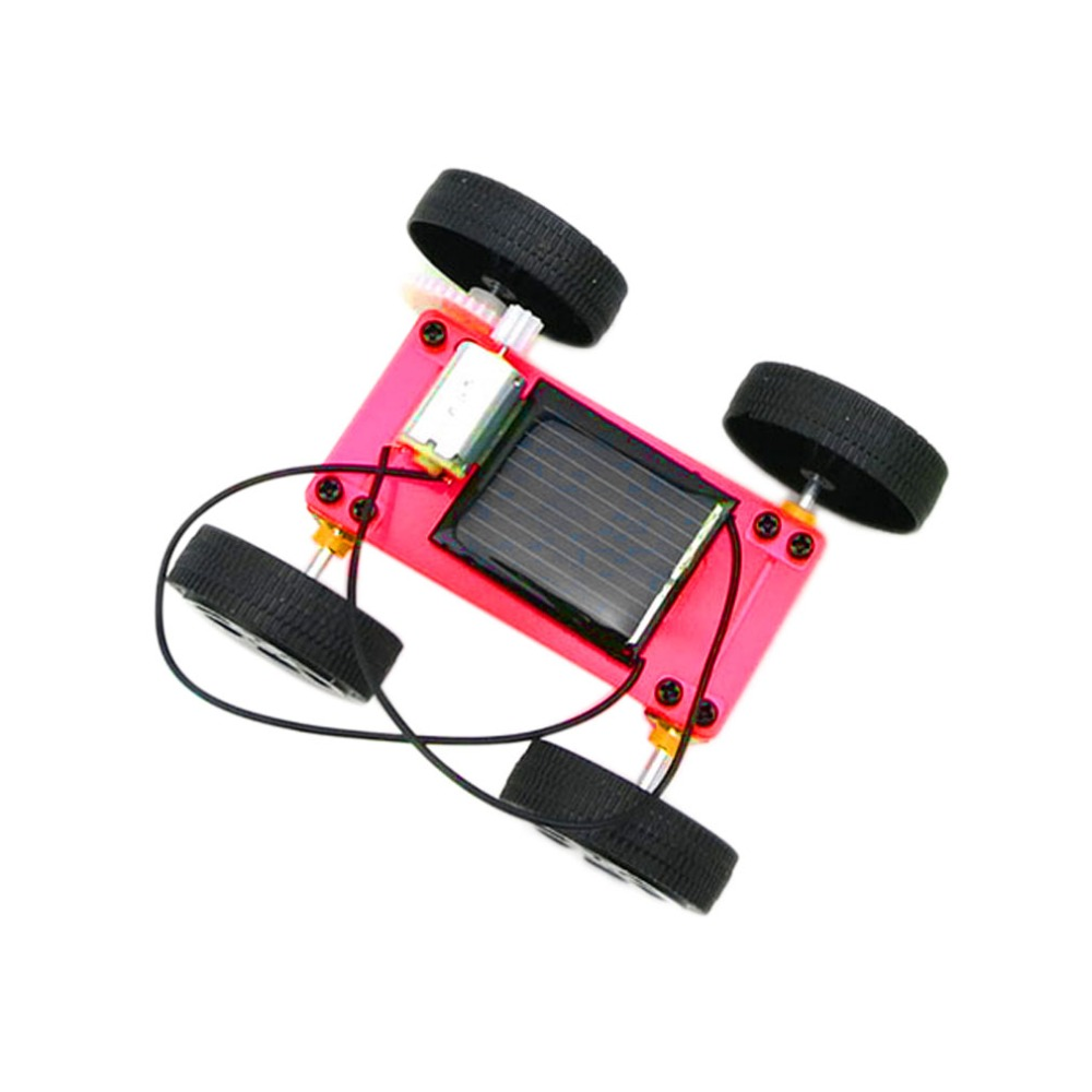 New arrival 1pc Self assembly Mini Solar Powered DIY Car Kit Children Educational Toy Gadget Gift 3 color Newest(China (Mainland))