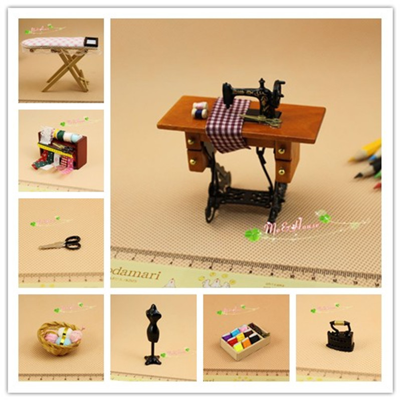1-12-Dollhouse-Miniatures-Sewing-Room-Complete-Set-Foot