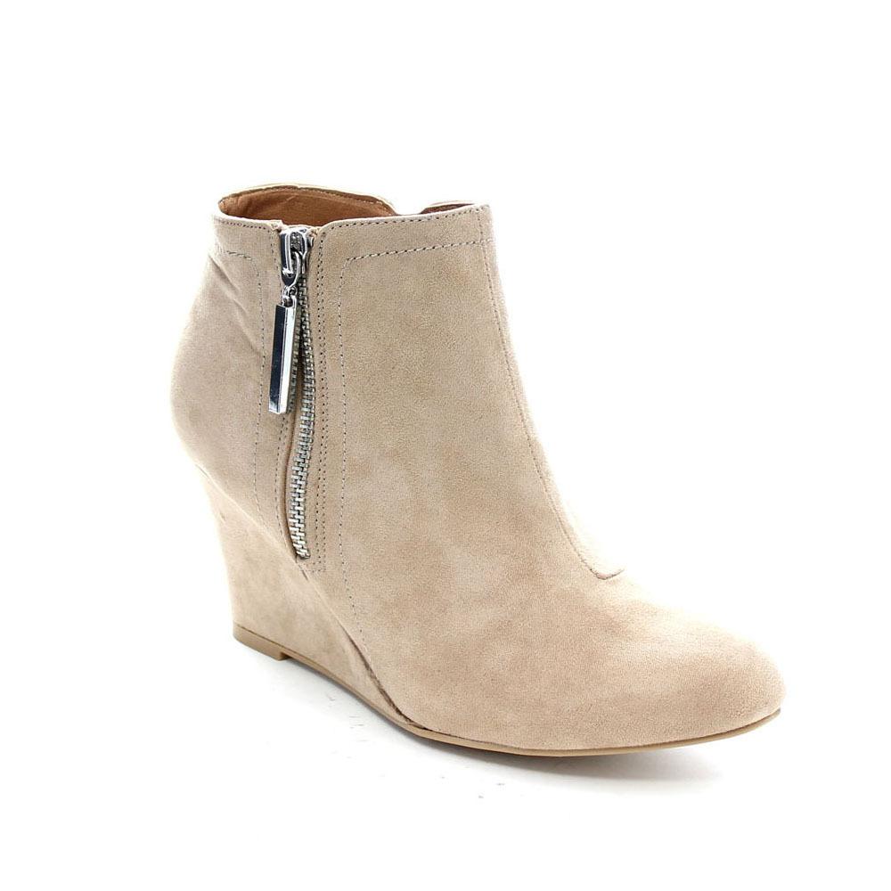 Booties With Wedge Heel
