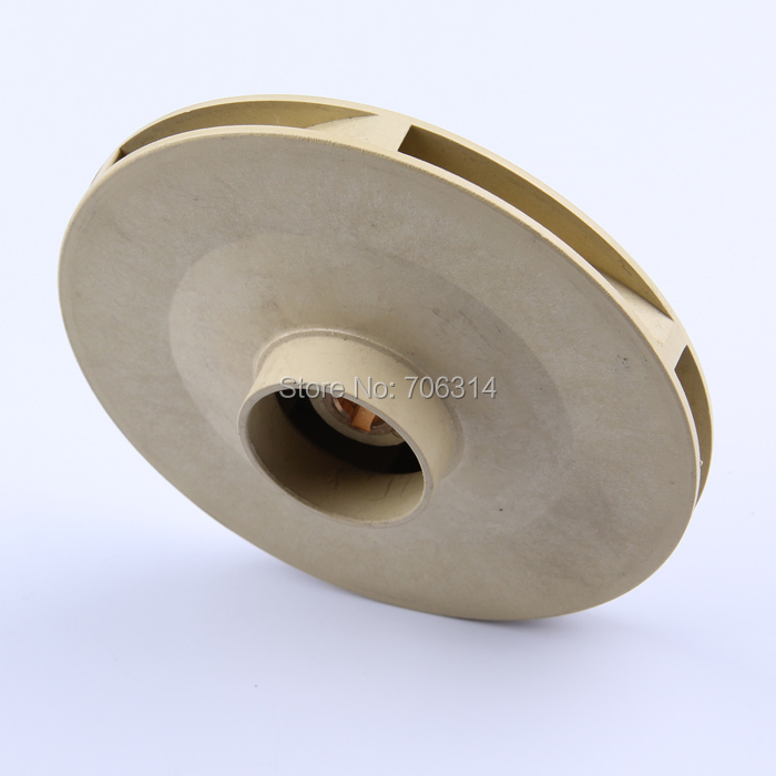 Plastic impeller for JETS-100 water pumps.peripheral pump spare parts.pumps accessory(China (Mainland))