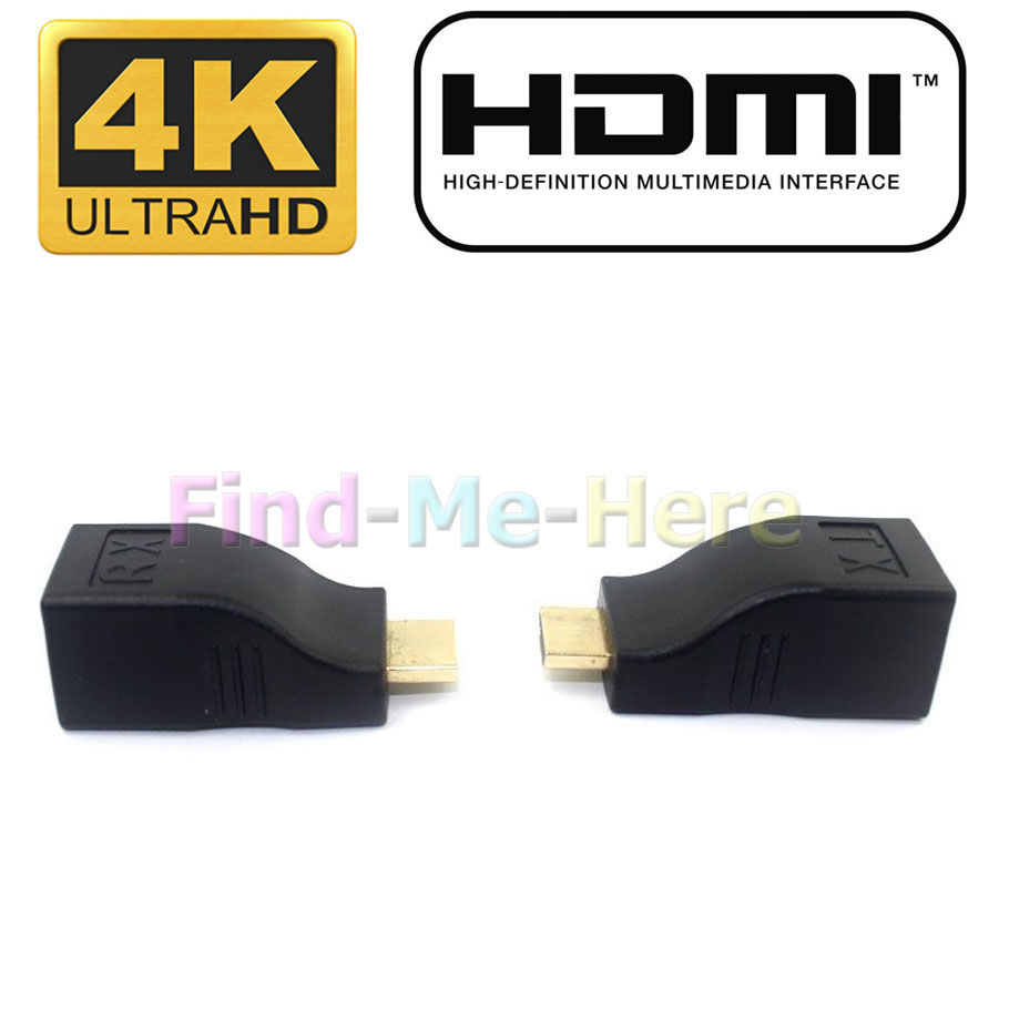 30M 4K HDMI 2.0 Single RJ45 CAT5E CAT6 Passive HDCP 1080P 4K Resolution HDMI Extender Repeater 3D For HDTV HDPC PS3 STB(China (Mainland))