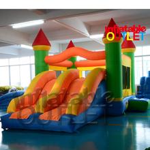 Dual slide inflatable combo bounce house bouncy castle moonwak(China (Mainland))