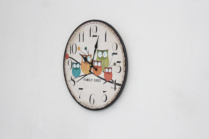 2016 modern design wall clocks of the rustic owl shabby chic home office cafe decorative art large wall clock wal modern design