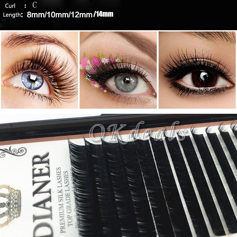 Wholesale New Mixed Size Mink Individual False Eyelashes Make Up