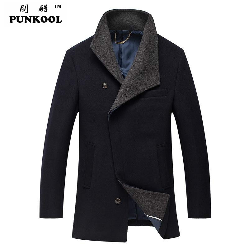 Autumn And Winter Fashion Brand Men Woolen Coats Middle Long Jackets And Coats Mens Outdoor Warm  Stand Collar Wool Overcoat 232Одежда и ак�е��уары<br><br><br>Aliexpress