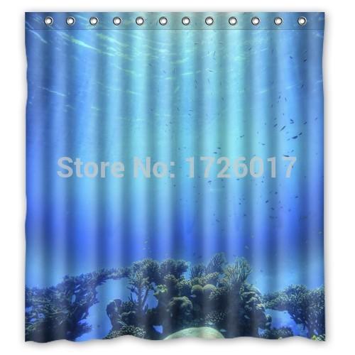 Yoosee fantasy deep ocean personalized custom shower for Fantasy shower curtains