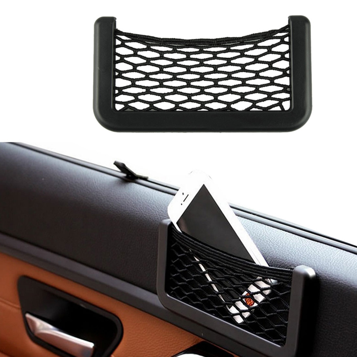 Гаджет  1 Pc 5* 8 cm Automotive Bag Durable Rubber With Adhesive Visor Car Net Organizer Pockets Net #2458 None Автомобили и Мотоциклы