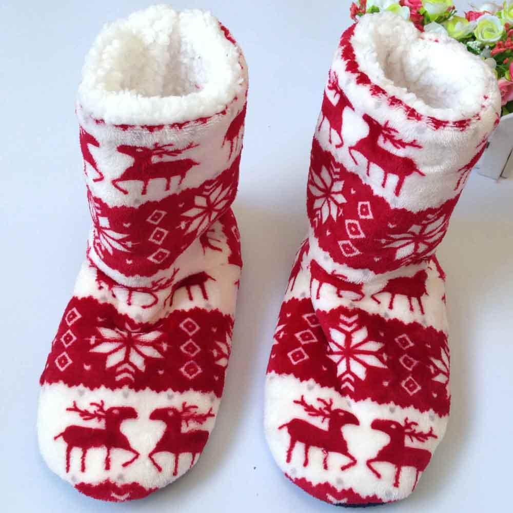 Winter Shoes Women Home Slippers Gril Floor Shoes Plush Household Shoes Snow Chirsitmas Deer Shoes mix color pantoufle femme<br><br>Aliexpress