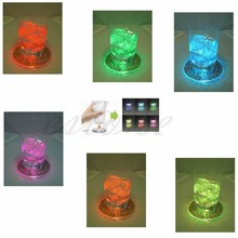 Free Shipping 1X LED Coaster Color Change Light Up Drink Cup Mat Tableware Glow Bar Club Party(China (Mainland))