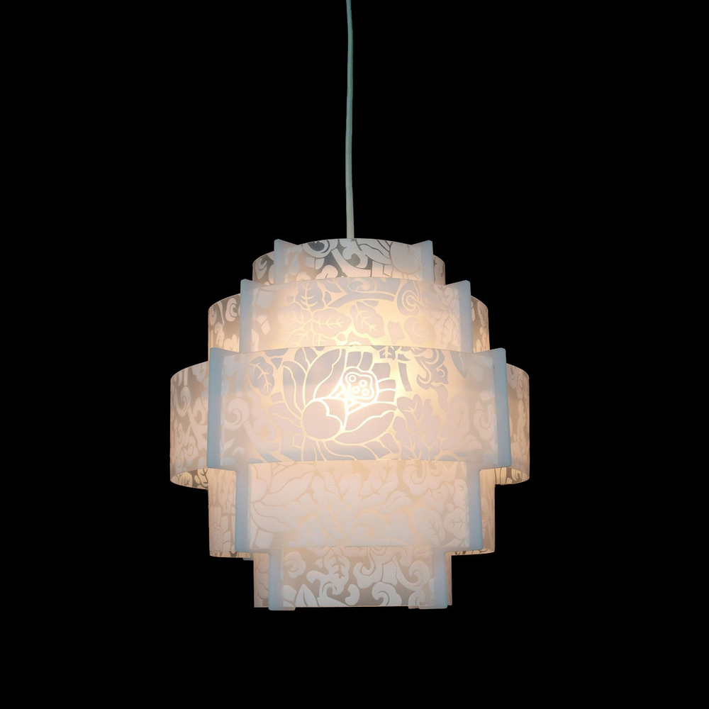 Modern Lantern Acrylic Pendant Lamp Dining Living Room Suspension Hanging Lig