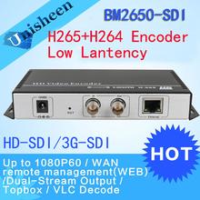 HEVC H.265 MPEG-4 AVC H.264 SDI Encoder Replace HD Video Capture Card IPTV encoder