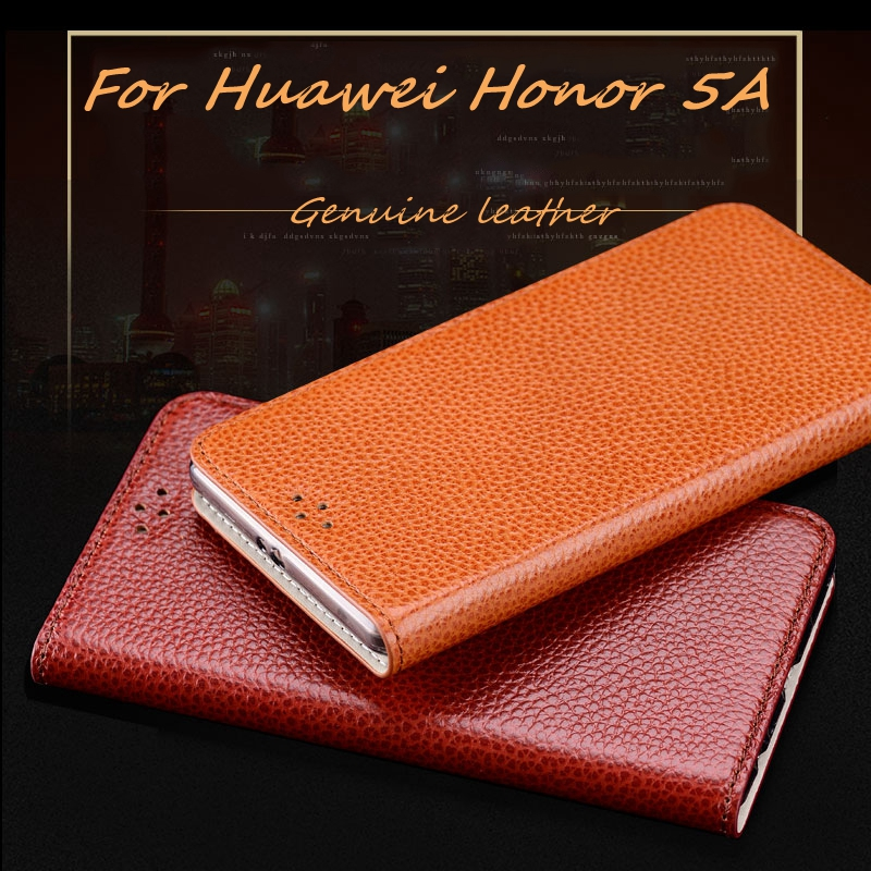 Fashion Business Style Genuine Leather Phone Case For Huawei Honor 5A Paly 5.5 inch Paly High Quality Luxury Mobile Phone Case(China (Mainland))