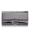 High Capacity Imported Cowhide Luxury Purse Women Fashion Elegant Clutch Bag High Embossing Genuine Leather Tri