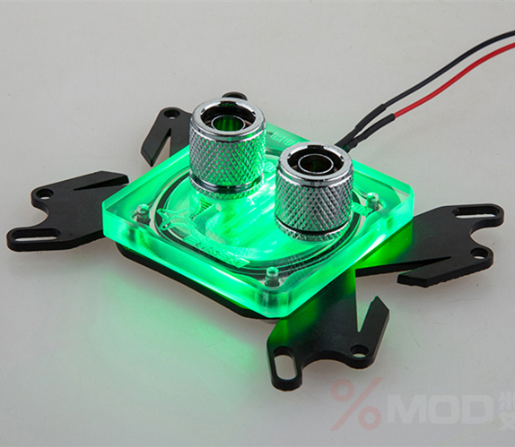 For i3/i5/775/771/1150/FM1/ X8/X6 Common Platform Computer CPU water cooling cooled block with LED(China (Mainland))