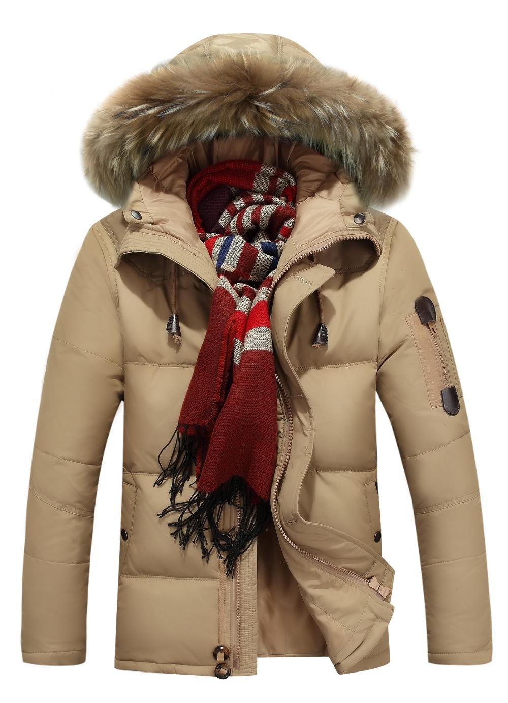 2015 Hot Sale Men Down Jacket Coat Winter Jacket Warm Padded Fur Collar Parka Sportswear Winter Jacket Men M39(China (Mainland))