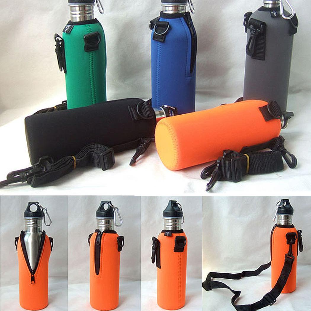 Water Bottle Bag Insulated Cover Case Bag Holder Pouch Shoulder Strap 750ML<br><br>Aliexpress
