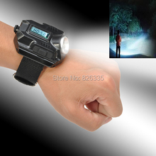 Portable CREE LED WristWatch USB Flashlight Wrist Flashlight Torch 4 Mode Wristlight Tactical Flashlight For Outdoor Sports(China (Mainland))