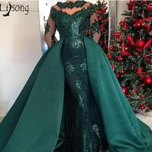 Lisong Hunter Green Mermaid Prom Dresses Evening Dress. US  179.10   piece Free  Shipping 8c86b88ca802