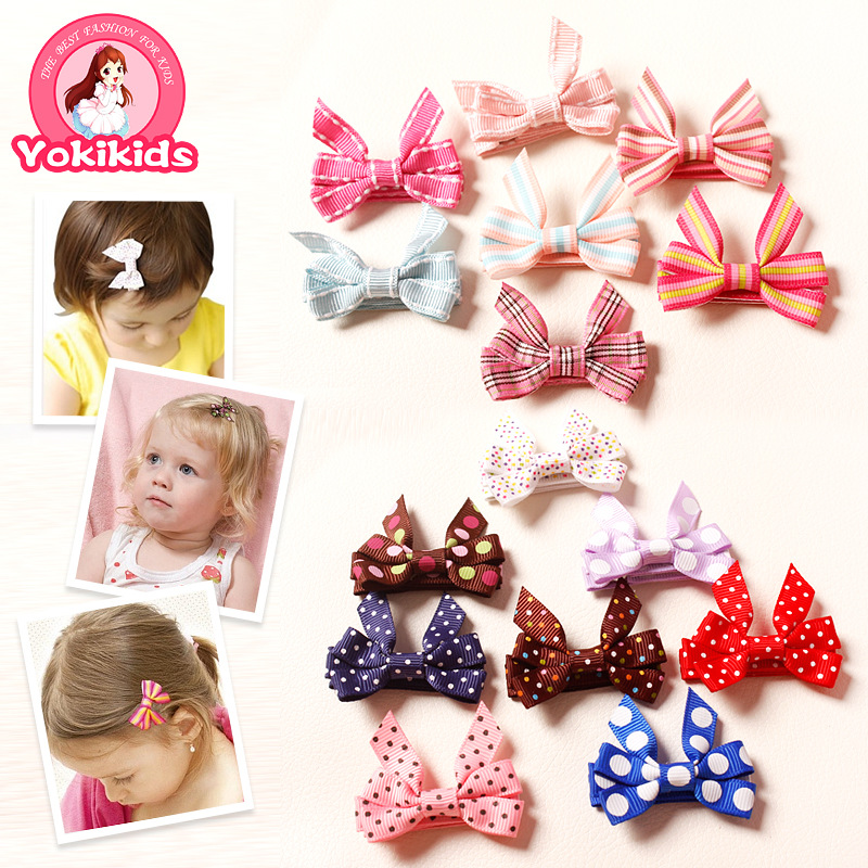300pcs/lot Headwear children's jewelry produced standard Japanese green bow hair accessories hairpin 50812(China (Mainland))
