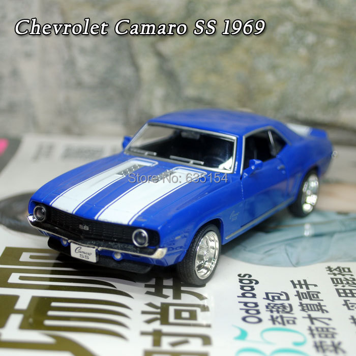 Wholesale 5pcs/pack Brand New UNI 1/36 Scale Classical Chevrolet Camaro SS 1969 Vintage Diecast Metal Pull Back Car Model Toy(China (Mainland))