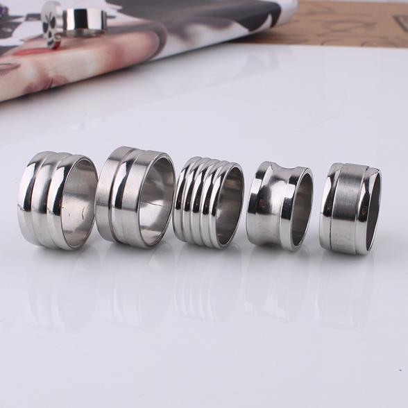 10pcs/lot Men mix design streak 316L Stainless Steel wedding ring jewelry big size wholesale(China (Mainland))