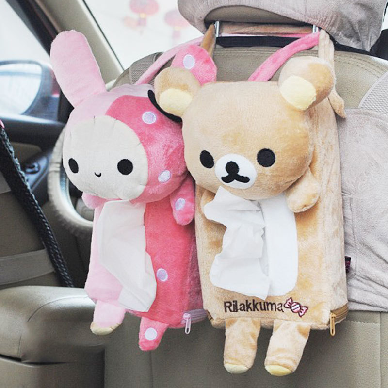 New Rectangle Cute Rabbit Bear Home Office Car Tissue Box Cover Holder Paper Box #52129(China (Mainland))