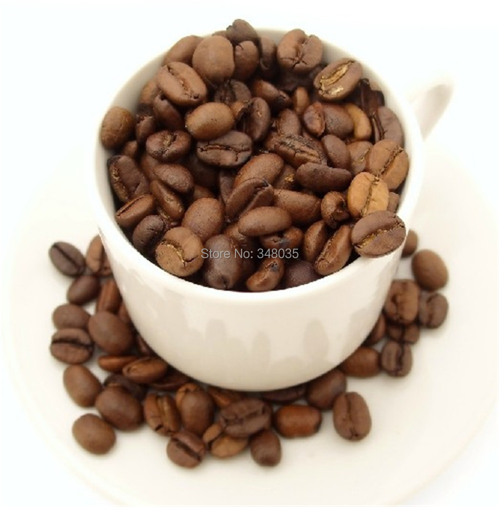500g High quality roasted Coffee Beans organic green food for weight loss slimming tea nice drinking