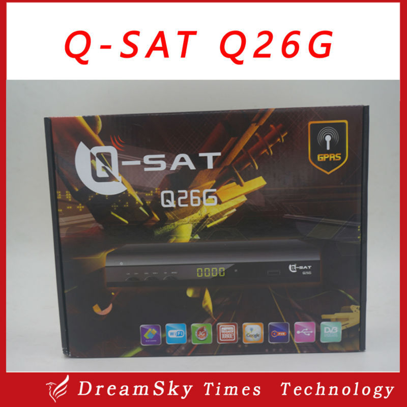5pcs Qsat q26g Receiver HD Decoder Q-SAT Q26G HD Satellite Receiver for africa,dhl free shipping(China (Mainland))
