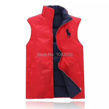 2014 new arrival  Men's winter Jackets men's vest outerwear male slim casual cotton-padded 5colors  polo men's jacket(China (Mainland))
