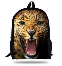 16inch Mochilas infantis Leopard Backpack Animal School Bag For Kids Fashion Boys Bags Children School Backpack Animal Prints(China (Mainland))