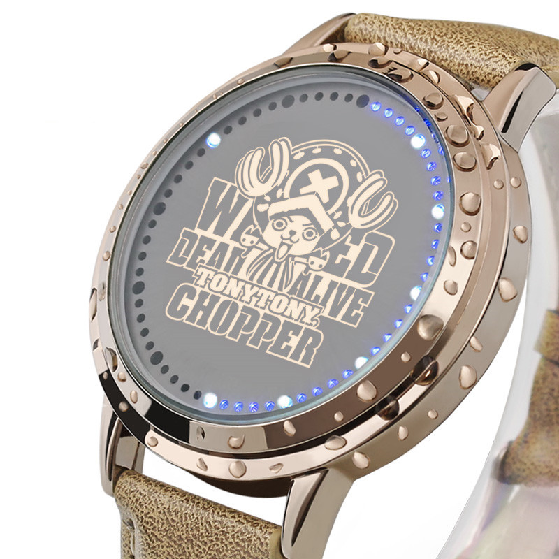 LED Watch Fashion Wristwatch One Piece Cute Doctor Tony Chopper Pattern LED Time Display(China (Mainland))