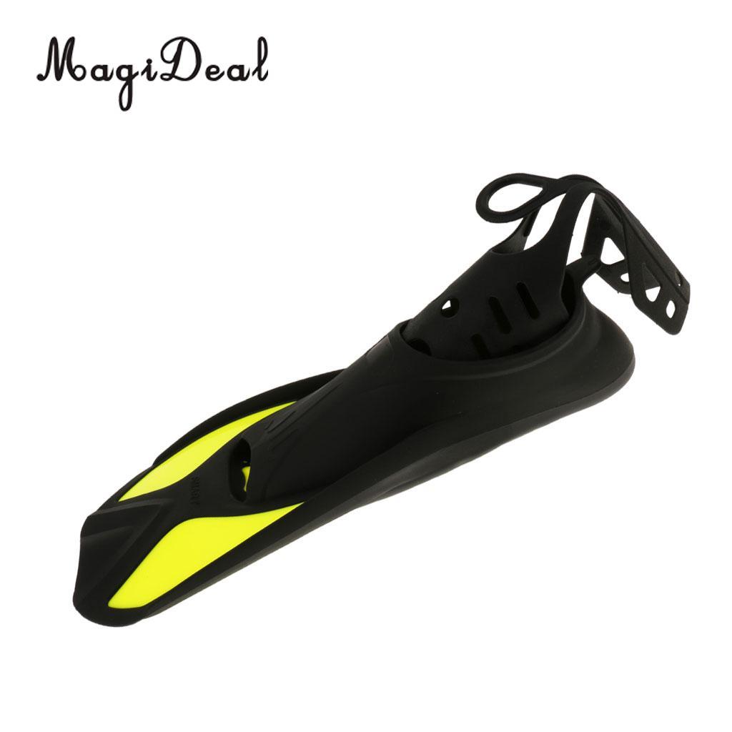 MagiDeal Universal Full Foot Short Fins Scuba Diving Swim Training Flippers Kid Adult Swimming Fins Snorkeling Water Fin 6 Sizes