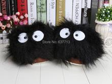 """Mon voisin Totoro 5 par 11 """" Ghibli poussière lapin en peluche Slipper Totoro souliers noirs Totoro pantoufles de lapin de la poussière hot vente(China (Mainland))"""
