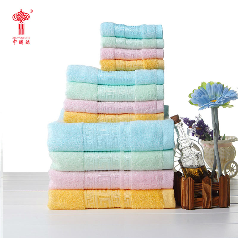 Chinese knot bamboo fiber 3 woolly scarf Soft water bath towel Thickening of qiu dong towel Bamboo fiber towel hairdressing(China (Mainland))