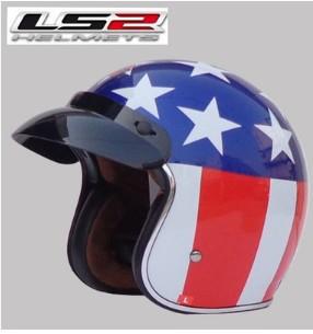Free shipping LS2 OF583 Prince retro helmet helmet motorcycle helmet/Stars and Stripes