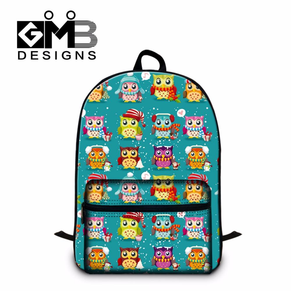 Owl Printed Jan Sports Backpacks for Girls,Childrens School bookbags,Laptop Back Pack for Elementary Student,cute girly mochila<br><br>Aliexpress