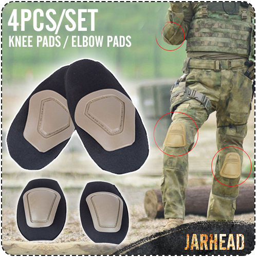 Tactical Clothing Protective Gear Army Fans Tactical Knee Pads And Elbow Pads Set Outdoor CS Field Equipment,4pcs/set(China (Mainland))