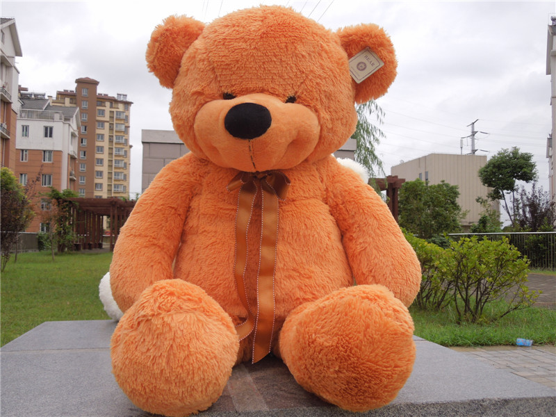 Free shipping 1m bear plush toy smile style teddy bear new style Christmas gift 4 color to choose(China (Mainland))