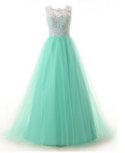 CB001 Wholesale 2015 Actual Product High Collar Graduation Dresses Green and White Venice Lace and Tulle Puffy Prom Dresses(China (Mainland))